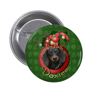 Christmas - Deck the Halls - Doxies - Winston Pin