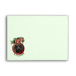 Christmas - Deck the Halls - Doxies - Winston Envelope