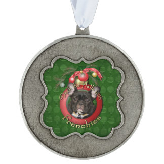 Christmas - Deck the Halls - Frenchies Pewter Ornament