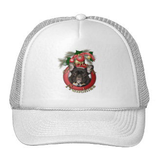 Christmas - Deck the Halls - Frenchies - Teal Trucker Hats