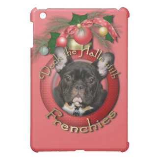 Christmas - Deck the Halls - Frenchies - Teal iPad Mini Cases