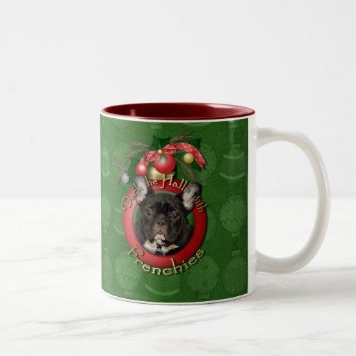 Christmas - Deck the Halls - Frenchies - Teal Mug