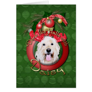 Christmas - Deck the Halls - GoldenDoodle Daisy Card
