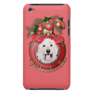Christmas - Deck the Halls - GoldenDoodles - Daisy Barely There iPod Case