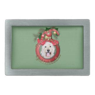 Christmas - Deck the Halls - GoldenDoodles - Daisy Belt Buckle