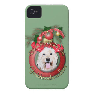 Christmas - Deck the Halls - GoldenDoodles - Daisy iPhone 4 Case-Mate Case