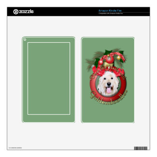 Christmas - Deck the Halls - GoldenDoodles - Daisy Kindle Fire Skins