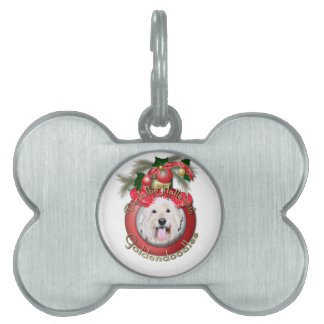 Christmas - Deck the Halls - GoldenDoodles - Daisy Pet ID Tag