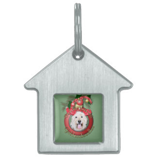 Christmas - Deck the Halls - GoldenDoodles - Daisy Pet Name Tag