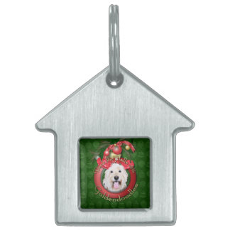 Christmas - Deck the Halls - GoldenDoodles - Daisy Pet Tag