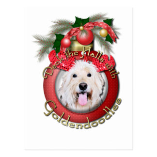 Christmas - Deck the Halls - GoldenDoodles - Daisy Postcard