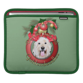 Christmas - Deck the Halls - GoldenDoodles - Daisy Sleeves For iPads