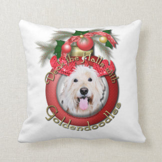 Christmas - Deck the Halls - GoldenDoodles - Daisy Throw Pillow
