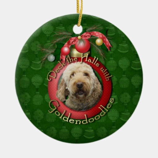 Christmas - Deck the Halls - Goldendoodles Christmas Ornament