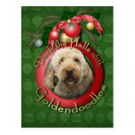Christmas - Deck the Halls - Goldendoodles Postcards