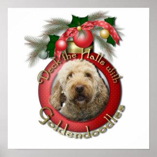 Christmas - Deck the Halls - Goldendoodles Print