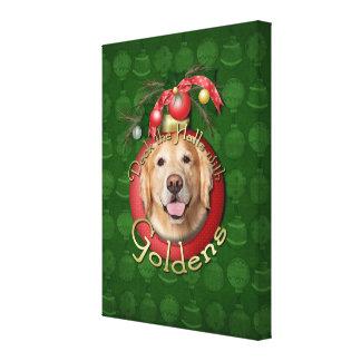 Christmas - Deck the Halls - Goldens Canvas Print