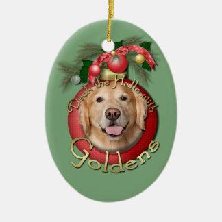 Christmas - Deck the Halls - Goldens - Corona Christmas Ornaments