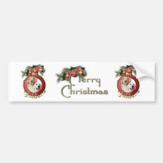 Christmas - Deck the Halls - Goldens Corona Tebow Bumper Sticker