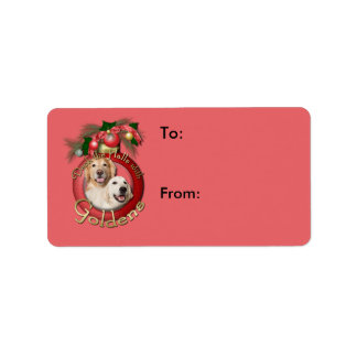 Christmas - Deck the Halls - Goldens Corona Tebow Personalized Address Label