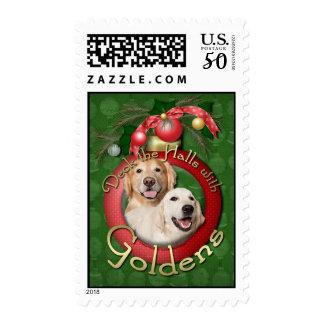Christmas - Deck the Halls - Goldens Corona Tebow Postage
