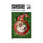 Christmas - Deck the Halls - Goldens Corona Tebow Stamp