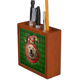 Christmas - Deck the Halls - Goldens - Mickey Pencil Holder