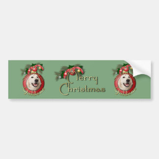 Christmas - Deck the Halls - Goldens - Tebow Bumper Sticker