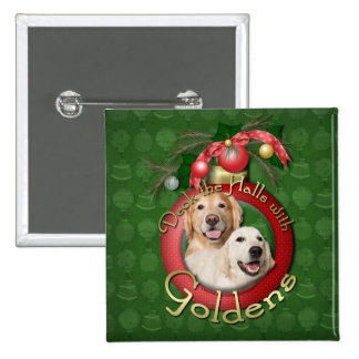Christmas - Deck the Halls - Goldens Tebow Corona Buttons