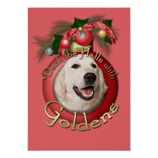 Christmas - Deck the Halls - Goldens - Tebow Poster