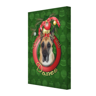Christmas - Deck the Halls - Great Dane Canvas Print
