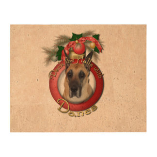 Christmas - Deck the Halls - Great Dane Photo Cork Paper