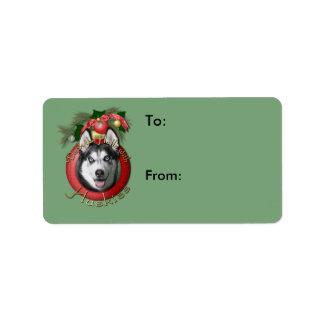 Christmas - Deck the Halls - Huskies Label