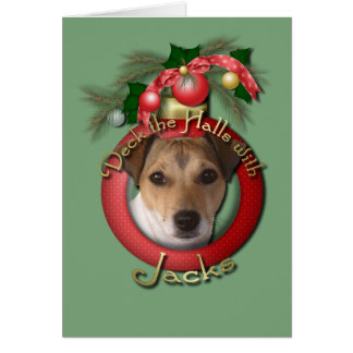 Christmas - Deck the Halls - Jack Russell Cards