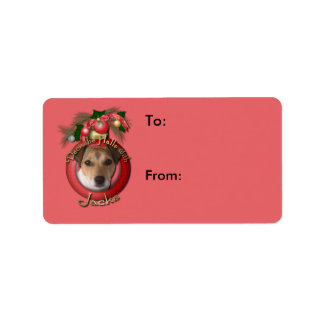 Christmas - Deck the Halls - Jack Russell Personalized Address Labels