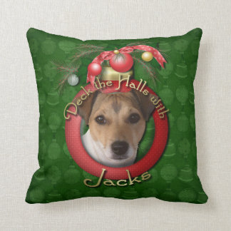 Christmas - Deck the Halls - Jacks Throw Pillow