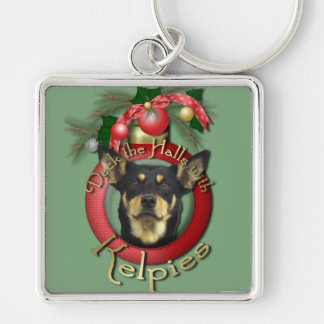 Christmas - Deck the Halls - Kelpies Silver-Colored Square Keychain