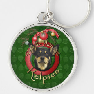 Christmas - Deck the Halls - Kelpies Silver-Colored Round Keychain