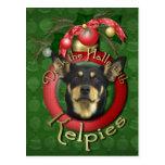 Christmas - Deck the Halls - Kelpies Post Card
