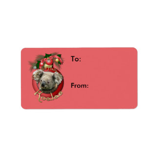 Christmas - Deck the Halls - Koalas Address Label