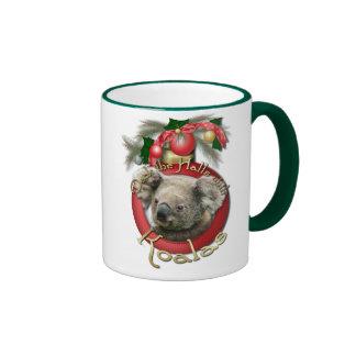 Christmas - Deck the Halls - Koalas Ringer Coffee Mug