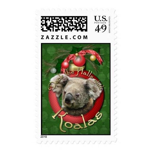 Christmas - Deck the Halls - Koalas Stamp
