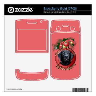 Christmas - Deck the Halls - Labrador - Black Decal For BlackBerry