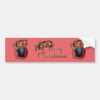Christmas - Deck the Halls - Labradors - Black Bumper Sticker