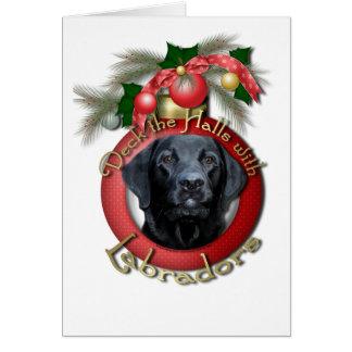 Christmas - Deck the Halls - Labradors - Black Cards