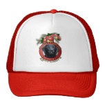 Christmas - Deck the Halls - Labradors - Black Trucker Hat