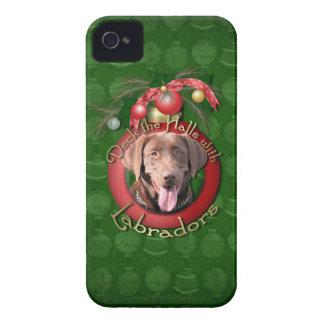 Christmas - Deck the Halls - Labradors - Chocolate Blackberry Bold Case