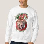 Christmas - Deck the Halls - Labradors - Chocolate Pullover Sweatshirt