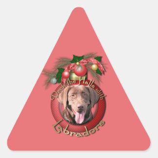 Christmas - Deck the Halls - Labradors - Chocolate Sticker