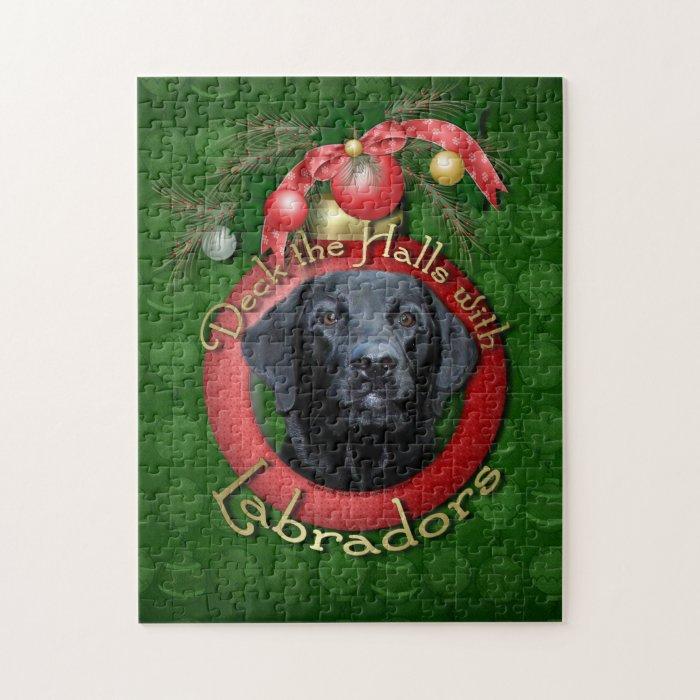 Christmas - Deck the Halls - Labradors - Gage Jigsaw Puzzle